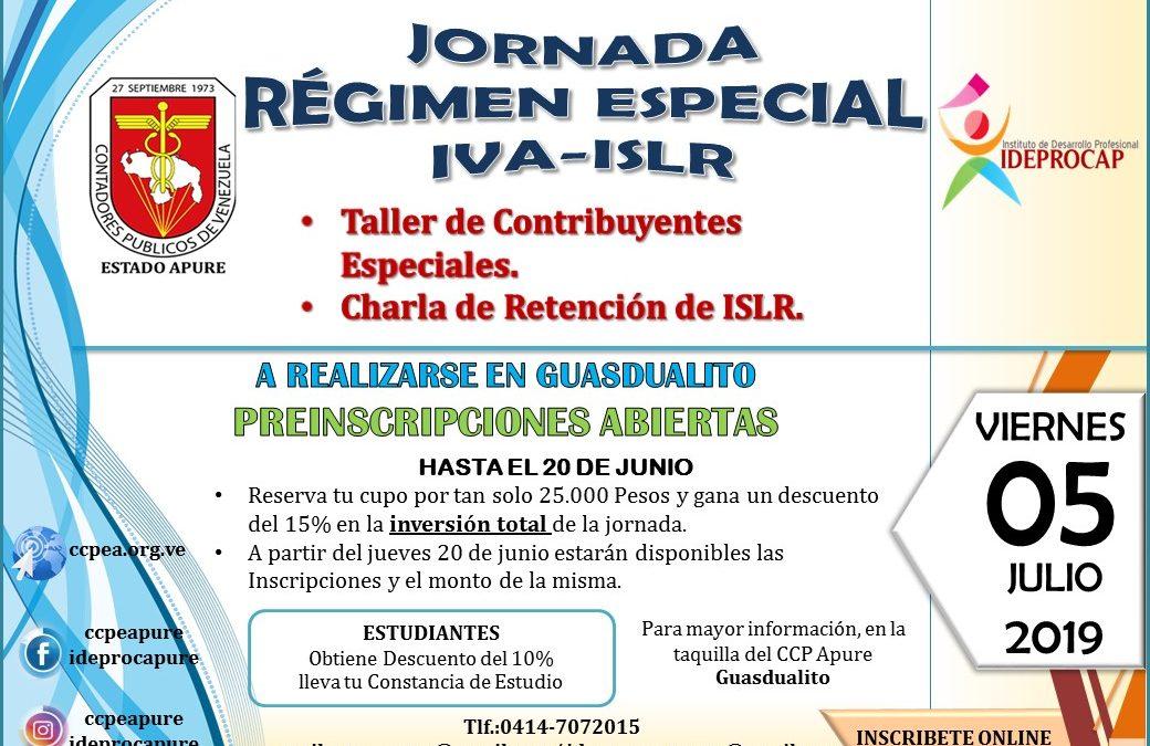 Jornada en Guasdualito del Régimen Especial IVA-ISLR
