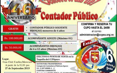 Compartir Día del Contador, 46 Aniversario (27/9)