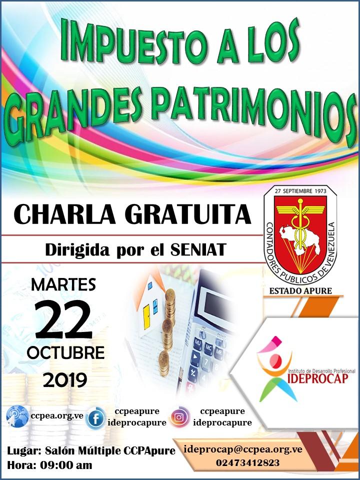 Charla Gratuita SENIAT - IMPUESTO A LOS GRANDES PATRIMONIOS