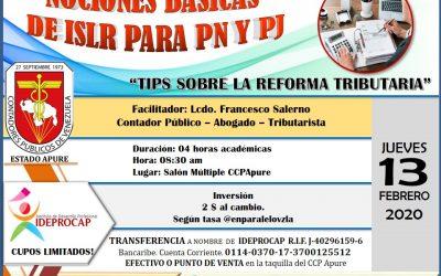 Fundamentos de ISLR para P.N. y P.J. / Tips Sobre la Reforma Tributaria