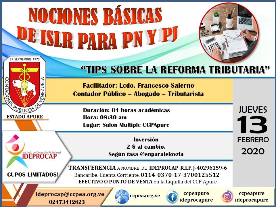 Fundamentos de ISLR y Tips Sobre la Reforma Tributaria