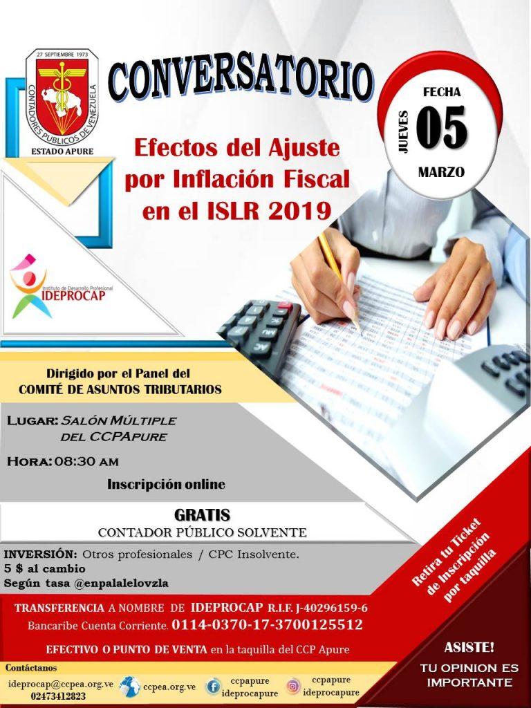 Conversatorio - Efectos del Ajuste por Inflacion Fiscal en el ISLR 2019